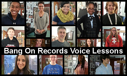 voice students at bang on records voice lesson studio